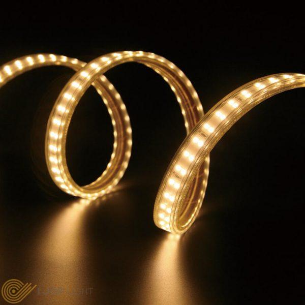 ریسه SMD تک لاین 2835 تراکم 180 بدون سیم ، 12 وات بر متر ، شار نوری 1100 لومن ، 220 ولت ، مناسب فضای داخلی