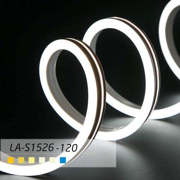 ریسه Neon Flex با تراشه 2835 با تراکم 120 مدل LA-S1526-120 - با تکنولوژی بدون سیم